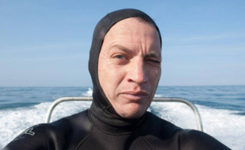 A selfie taken by Paul van Jaarsveld after a dive